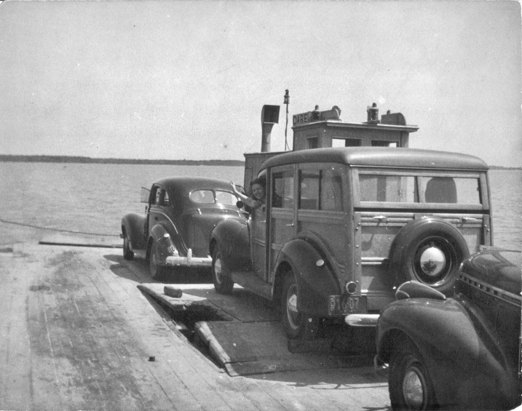 Dare County ferry, 1940